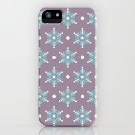 The retro snowflake III iPhone Case