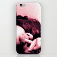lip iPhone & iPod Skins featuring Honey lip by NK sharma