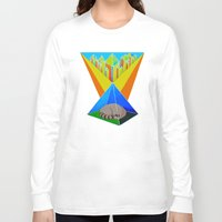 racoon Long Sleeve T-shirts featuring Crystal Racoon by Cariann Dominguez