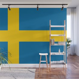 Flag of Sweden - Authentic (High Quality Image) Wall Mural