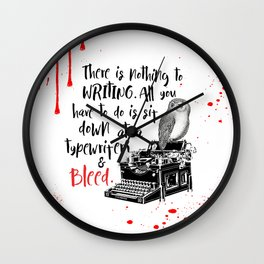 Bloodwrite Wall Clock
