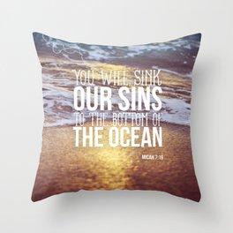 Micah 7:19 Throw Pillow