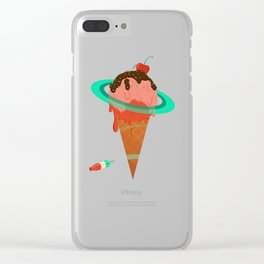 Ice Cream Planet Clear iPhone Case