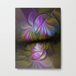 Come Together, Abstract Fractal Art Metal Print