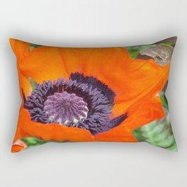 Giant Red Poppy Rectangular Pillow