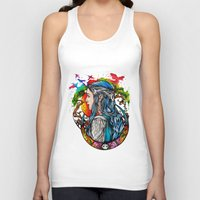 celtic Tank Tops featuring Celtic elf by Raquel C. Hita - Sednae