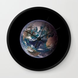 The Blue Marble - Western Hemisphere - Earth From Space Wall Clock