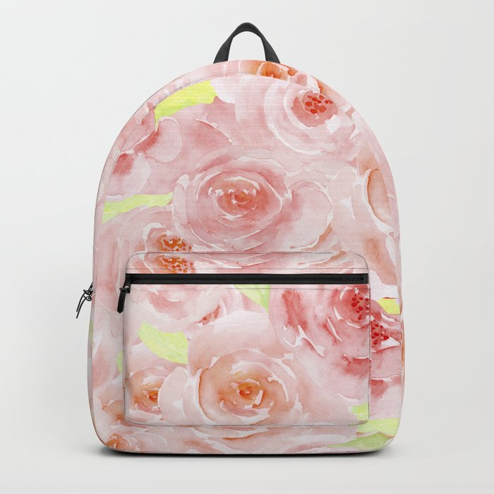 Rose pattern- Beautiful watercolor roses background Backpack