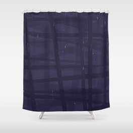 Mistake P Plaid Shower Curtain
