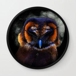 Chouette Sous La Lune / Owl Under The Moon Wall Clock
