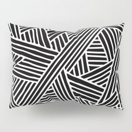 Abstract black & white Lines and Triangles Pattern - Mix and Match with Simplicity of Life Pillow Sham