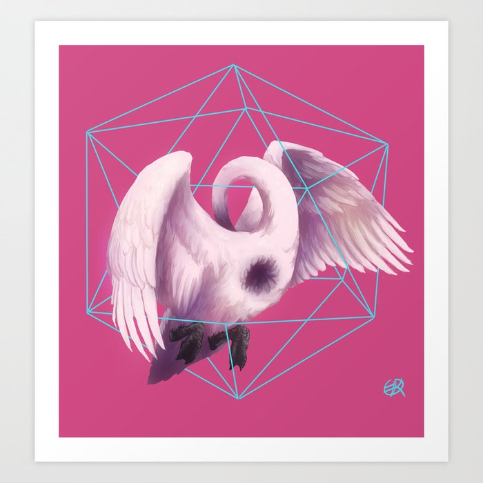 Klein Swan Art Print