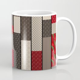 Country motifs . Classic quilting. Coffee Mug