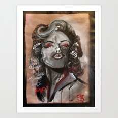 Marilyn Monroe XOXO Art Print