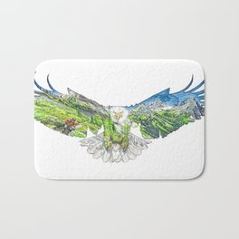Freedom in the Mountains Bath Mat