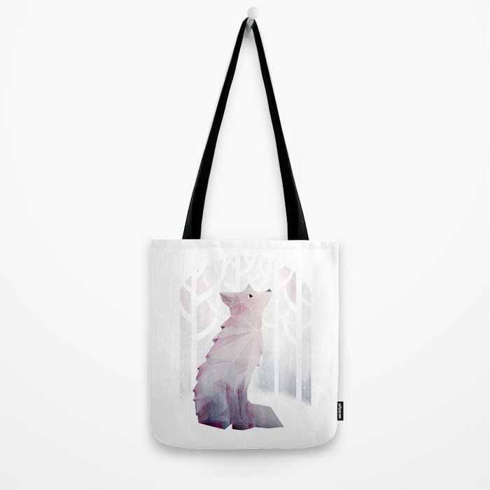 Fox in the Snow Tote Bag