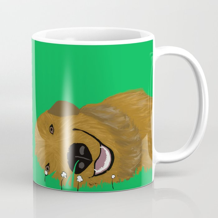 Golden Doodle in Grass Coffee Mug