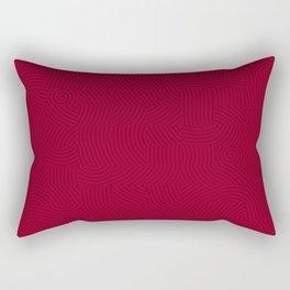 BloodRed Spirals Rectangular Pillow
