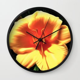 Painted Day Lilly Wall Clock