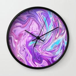 Holo Marble Wall Clock
