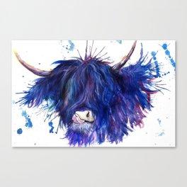 Splatter Highland Cow Canvas Print