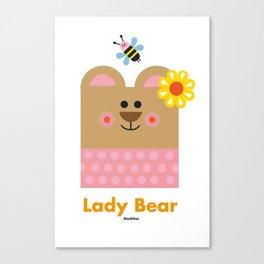 Lady Bear Canvas Print