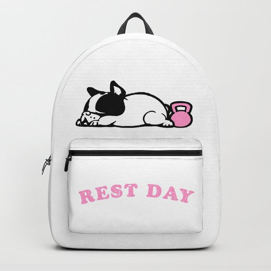 Rest Day Frenchie Backpack