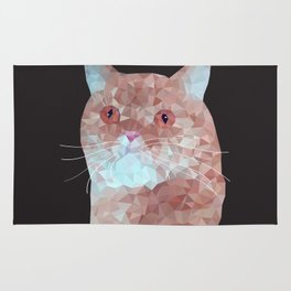 Low poly red cat 1 Rug