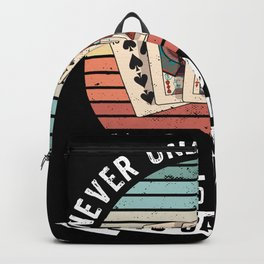 Funny Retro Old Man likes Gamling Gift Backpack
