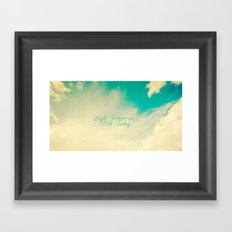 Light Tommorrow With Today Framed Art Print