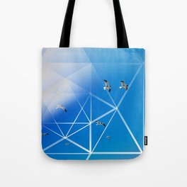 Gulls in Hexagram Flight Tote Bag
