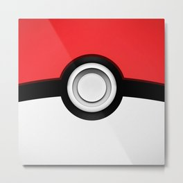 POKEBALL Metal Print