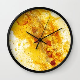 amber is the color of her energy Wall Clock
