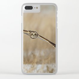 I am coming - Short Eared Owl Clear iPhone Case