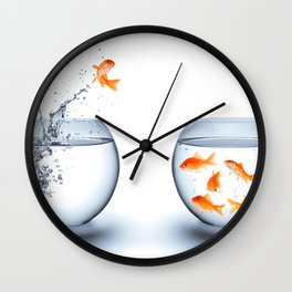 Hip-Hop Fish Wall Clock
