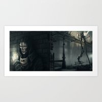 dishonored Art Prints featuring Dishonored by trixdraws