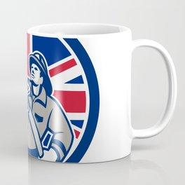 British Firefighter Union Jack Flag Icon Coffee Mug