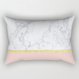 Marble Peach Rectangular Pillow