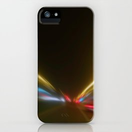 Light Trails in the Dark,Traffic Light Trails,AbstractTraffic Lines iPhone Case