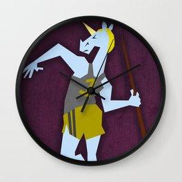 Javelin Throw Unicorn Wall Clock