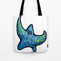 starfish Tote Bags featuring Starfish by Michael Hewitt