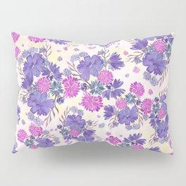 Purple Floral Bouquet Pillow Sham