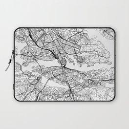 Stockholm White Map Laptop Sleeve