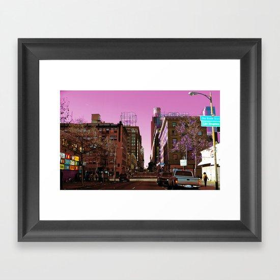 Light Falls in Strange Ways Framed Art Print
