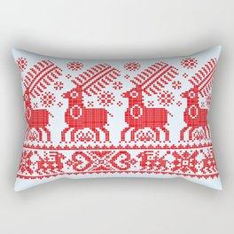 Folk Deers Rectangular Pillow