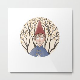 Over the Garden Wall Wirt Watercolor Metal Print