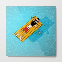 Chill Out. Do Nothing. Metal Print