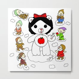 Snow White Care Bear Metal Print