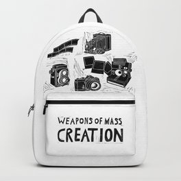 Weapons Of Mass Creation - Photography (blockprint) Backpack