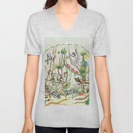 Endemic Species of Madagascar Unisex V-Neck